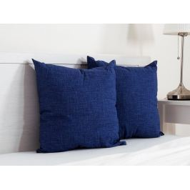 2x vankúšik dekoračný modrý 45x45 cm