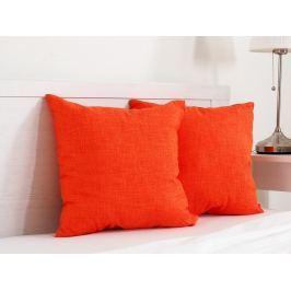 2x vankúšik dekoračný oranžový 45x45 cm