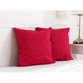 2x vankúšik dekoračný červený 45x45 cm
