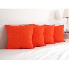 4x vankúšik dekoračný oranžový 45x45 cm