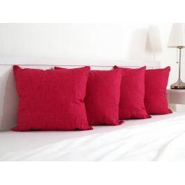 4x vankúšik dekoračný červený 45x45 cm