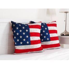 2x vankúšik dekoračný USA 45x45 cm