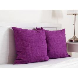 2x vankúšik dekoračný fialový 45x45 cm
