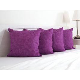 4x vankúšik dekoračný fialový 45x45 cm