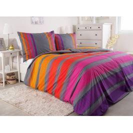 2x luxusné bavlnené obliečky Renforcé Simplex fialová 140x200