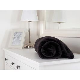 Mikroflanelová hebká deka čierna 150x200