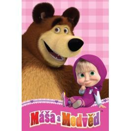 Deka fleecová detská Máša a medveď 100x150