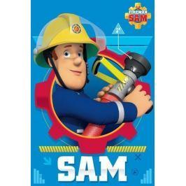 Fleecová deka licenčná Požiarnik Sam 100x150