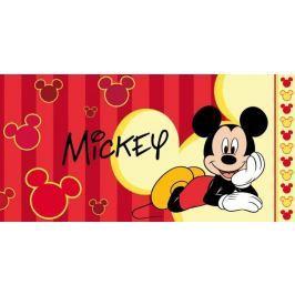 Licenčná osuška Mickey Mouse červené prúžky 70x140