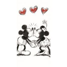 Licenčná osuška Zamilovaní Mickey a Minnie 70x140