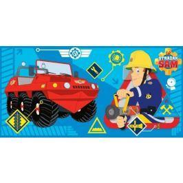 Licenčná froté osuška Požiarnik Sam červená 70x140