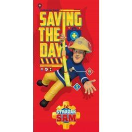 Licenčná froté osuška Požiarnik Sam v akcii 70x140