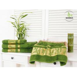 Bambusový uterák Bamboo Deluxe tmavozelená 50x90