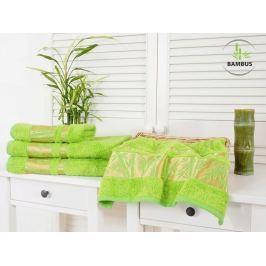 Trojdielny set dvoch uterákov a osušky Bamboo Deluxe jarná zelená