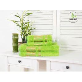 Štvordielny set dvoch osušiek a dvoch uterákov Bamboo Deluxe jarná zelená