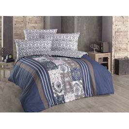 Luxusné francúzske obliečky bavlna Renforcé Ottavo modrá 200x220