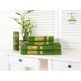 Štvordielny set dvoch osušiek a dvoch uterákov Bamboo Deluxe tmavozelená