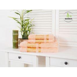 Štvordielny set dvoch osušiek a dvoch uterákov Bamboo Deluxe lososová