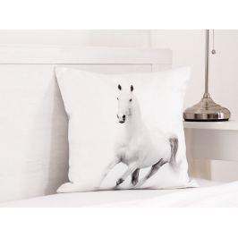 Detský vankúšik Biely kôň fototlač 3D 40x40