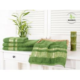 2x bambusová osuška Bamboo Luxus tmavozelená 70x140