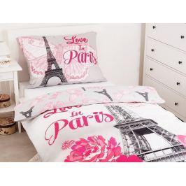 Bavlnené obliečky 3D fototlač Paris Flowers 140x200