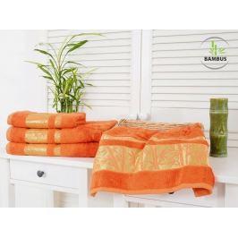 2x bambusová osuška Bamboo Deluxe oranžová 70x140