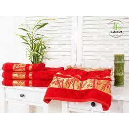 2x bambusová osuška Bamboo Deluxe červená 70x140