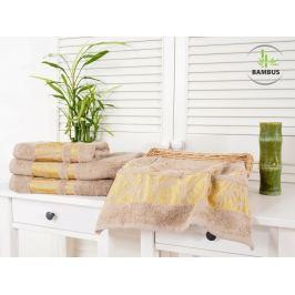 2x bambusová osuška Bamboo Deluxe béžová 70x140
