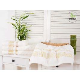 2x bambusový uterák Bamboo Luxus biela 50x90