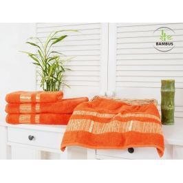 2x bambusový uterák Bamboo Luxus oranžová 50x90