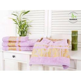 2x bambusový uterák Bamboo Deluxe fialová 50x90