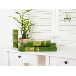 Výhodný set osuška a uterák Bamboo Deluxe tmavozelená