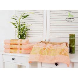Výhodný set osuška a uterák Bamboo Deluxe lososová