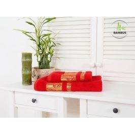 Výhodný set osuška a uterák Bamboo Deluxe červená