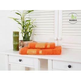 Výhodný set osuška a uterák Bamboo Deluxe oranžová