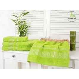Výhodný set osuška a uterák Bamboo Luxus jarná zelená