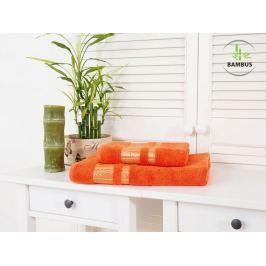 Výhodný set osuška a uterák Bamboo Luxus oranžová