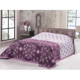 Bavlnený prehoz na posteľ Deluxe Moscerino fialová 160x220