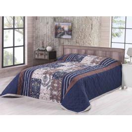 Prehoz na posteľ bavlna Deluxe Ottavo modrá 160x220