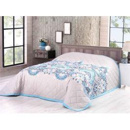Bavlnený prehoz na posteľ Deluxe Granello modrá 160x220