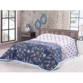 Prehoz na posteľ dvojlôžko bavlna Deluxe Moscerino modrá 240x220