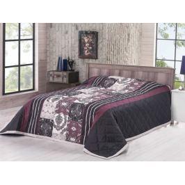 Bavlnený prehoz na posteľ Deluxe Ottavo čierna 240x220