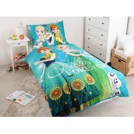 Detské bavlnené obliečky Ľadové kráľovstvo Sestry navždy 140x200