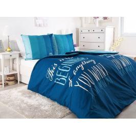 2x bavlnené posteľné obliečky P.S. Milujem Ťa 140x200