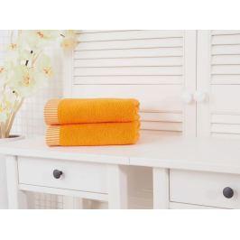 2x uterák froté Colomba oranžová 50x90