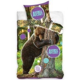 Detské 3D obliečky Zvieratá planéty - Medveď 140x200