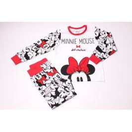 Dievčenské bavlnené pyžamo Minnie s mašličkou 122/128