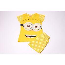 Dievčenské bavlnené pyžamo so šortkami Mimoni 104/110