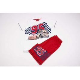 Chlapčenské bavlnené pyžamko so šortkami Cars biele 92/98