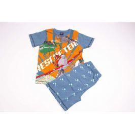 Chlapčenské pyžamo z bavlny so šortkami Lietadlá 116/122